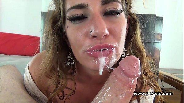 Choking Blowjob: Sloppy wet gagging deepthroat